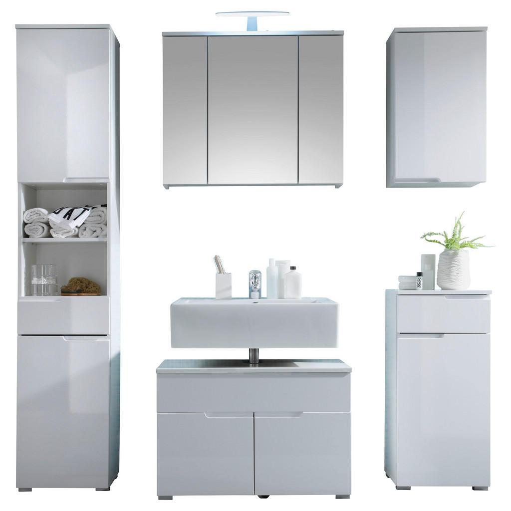 Livetastic Badezimmer 5-teilig inkl. bel. weiß
