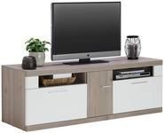 LOWBOARD 160/54/50 cm  - Eichefarben/Alufarben, KONVENTIONELL, Holzwerkstoff/Metall (160/54/50cm) - Xora