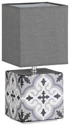 TISCHLEUCHTE - Weiß/Grau, Design, Textil/Metall (39cm)