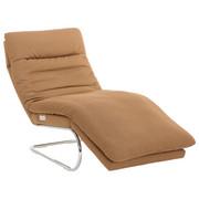 RELAXLIEGE in Textil Sandfarben - Sandfarben/Chromfarben, Design, Textil (75/91/170cm) - Chilliano