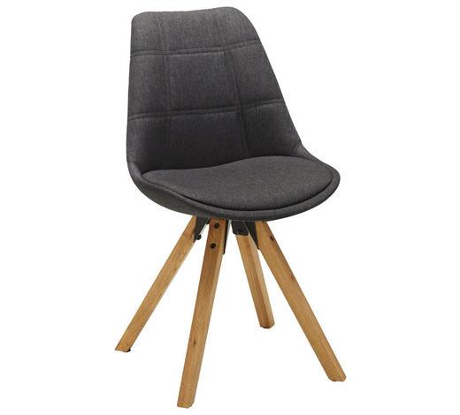 ŽIDLE, barvy dubu, tmavě šedá - barvy dubu/černá, Design, kov/dřevo (49/87,5/56cm) - Carryhome
