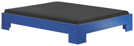 BETT 160/200 cm - Blau, Design, Holzwerkstoff (160/200cm) - Xora