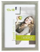 BILDERRAHMEN  Silberfarben  - Silberfarben, Basics, Holz (15/20cm) - Nielsen