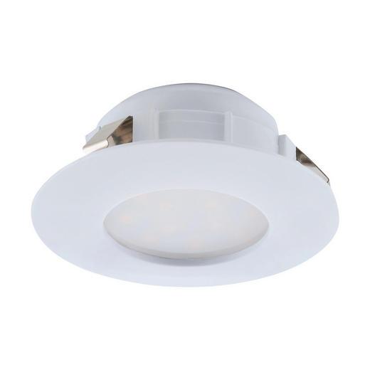 BADEZIMMER-EINBAULEUCHTE - Weiß, Design, Kunststoff (7,8cm)