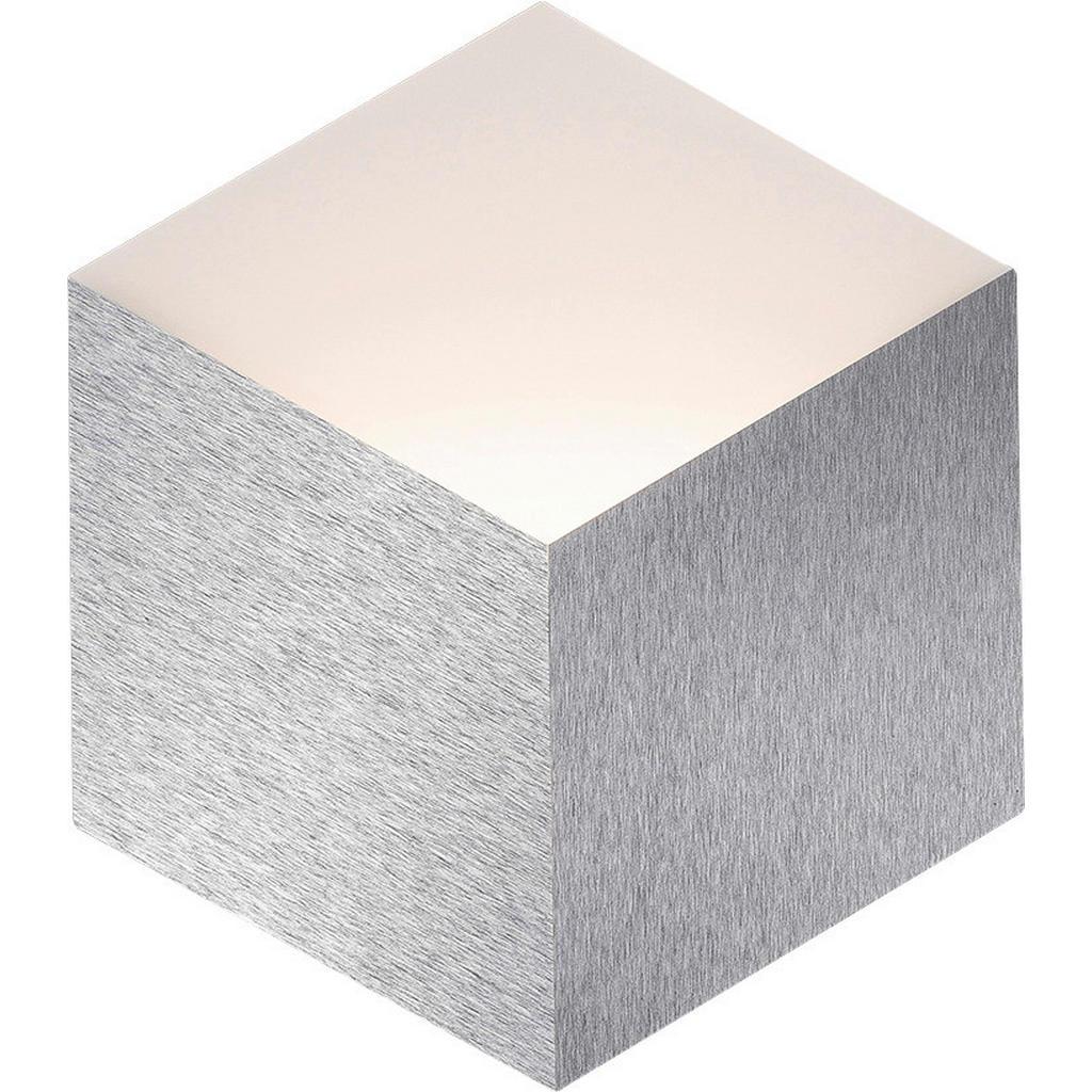 Led-Wandleuchte , Alu , Metall , quadratisch , 27.0x3.2 cm , Grüner Punkt, Made in Germany , LED Beleuchtung, LED Wandleuchten