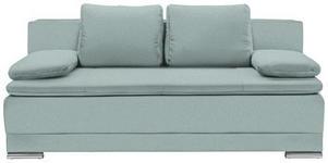 SCHLAFSOFA in Textil Türkis  - Türkis/Chromfarben, MODERN, Kunststoff/Textil (200/100/97,5cm) - Carryhome