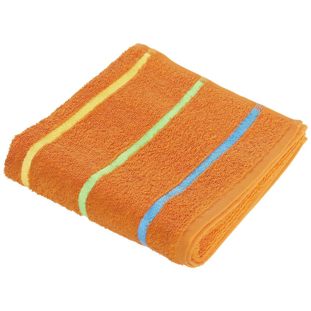 Image of Ben'n'jen Handtuch 50/90 cm , Funny , Orange , Textil , Streifen , 50x90 cm , saugfähig, hochwertige Qualität , 004893009903