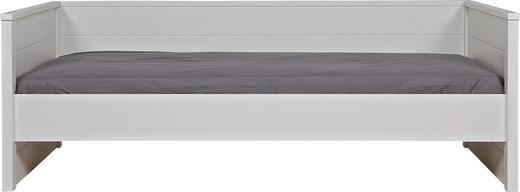 BETT Kiefer massiv 90/200 cm - Weiß, LIFESTYLE, Holz (90/200cm) - Carryhome