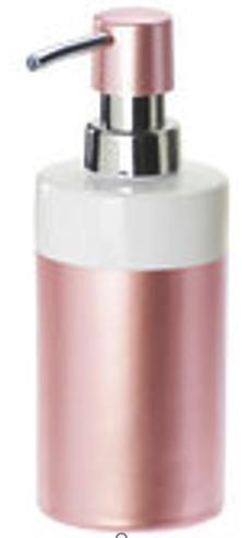 DOZATOR TEKUĆEG SAPUNA - roza, Basics, plastika/keramika (6.7/17.5/6.7cm) - Celina