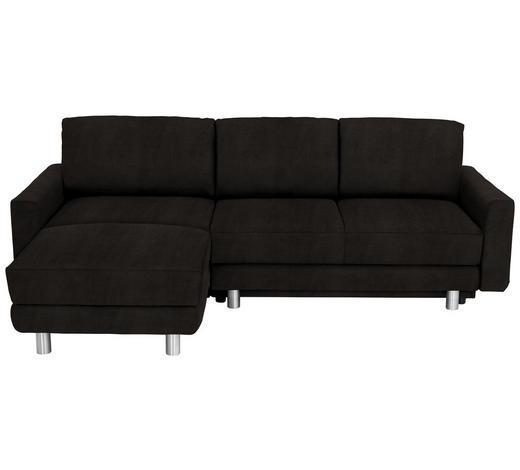 WOHNLANDSCHAFT in Textil Braun  - Alufarben/Braun, KONVENTIONELL, Textil/Metall (160/240cm) - Sedda