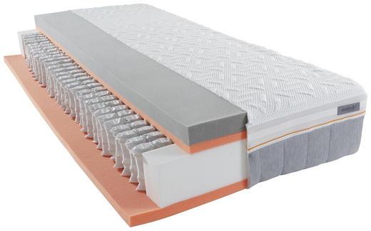 GEL-TASCHENFEDERKERNMATRATZE - Weiß/Grau, Basics, Textil (120/200/cm) - Sembella