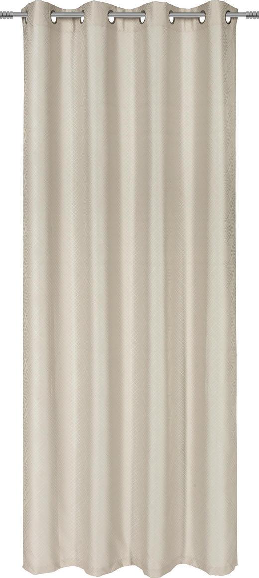 ÖSENSCHAL  blickdicht   135/245 cm - Beige, KONVENTIONELL, Textil (135/245cm) - Ambiente