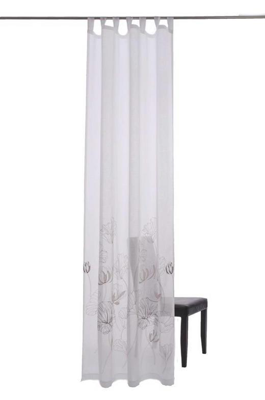 SCHLAUFENSCHAL  transparent  140/255 cm - Braun/Weiß, Design, Textil (140/255cm)