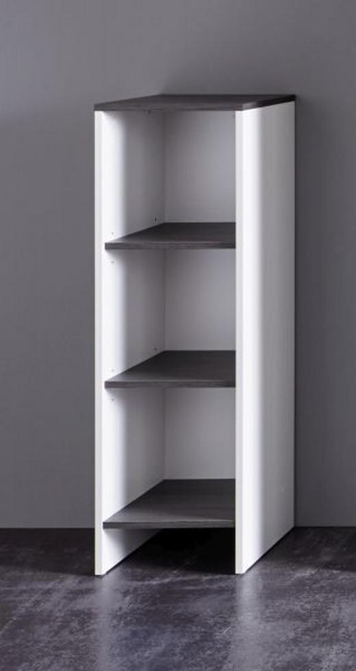 BADEZIMMERREGAL Grau, Weiß - Weiß/Grau, KONVENTIONELL, Holzwerkstoff (32/103/28cm) - Xora