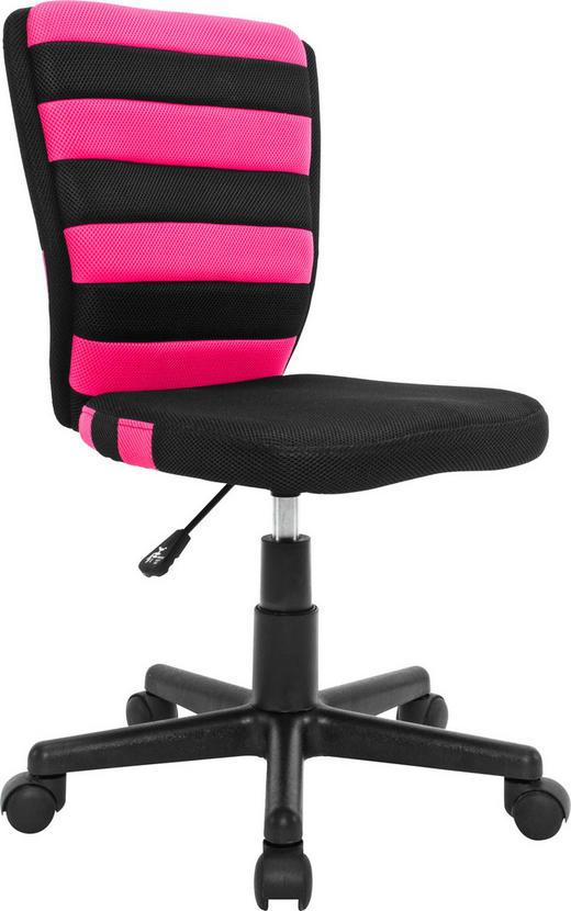 JUGENDDREHSTUHL - Pink/Schwarz, Design, Kunststoff/Textil (41/81-93/51cm) - Carryhome