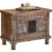 TRUHLA, dřevo, mangové dřevo, masivní,  - bílá/hnědá, Trend, dřevo (65/50/40cm) - Ambia Home