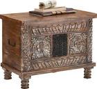 TRUHLA - bílá/hnědá, Trend, dřevo (65/50/40cm) - AMBIA HOME