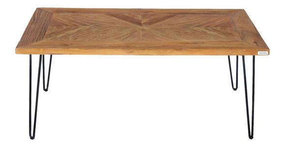 COUCHTISCH in Holz, Metall 107/60/45 cm   - Schwarz/Naturfarben, Trend, Holz/Metall (107/60/45cm) - Xora