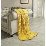 Kuscheldecke Milo - Gelb, ROMANTIK / LANDHAUS, Textil (180/220cm) - James Wood