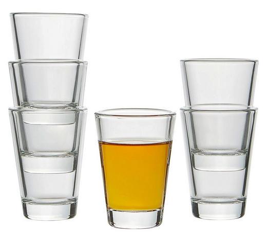 SKLENICE NA KOŘALKU - čiré, Basics, sklo (5/7cm) - Leonardo