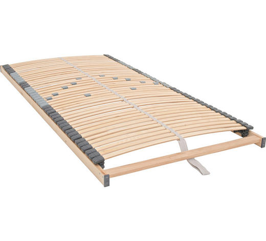 LATTENROST 90/190 cm  - Birkefarben, Basics, Holz (90/190cm)