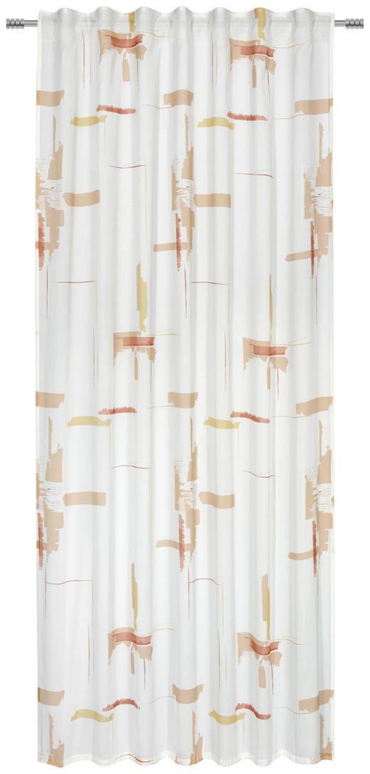 FERTIGVORHANG  transparent  140/245/ cm - Orange, KONVENTIONELL, Textil (140/245/cm) - Esposa