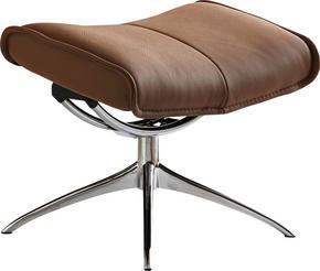 PALL - alufärgad/ljusbrun, Basics, metall/läder (55/46/38cm) - Stressless