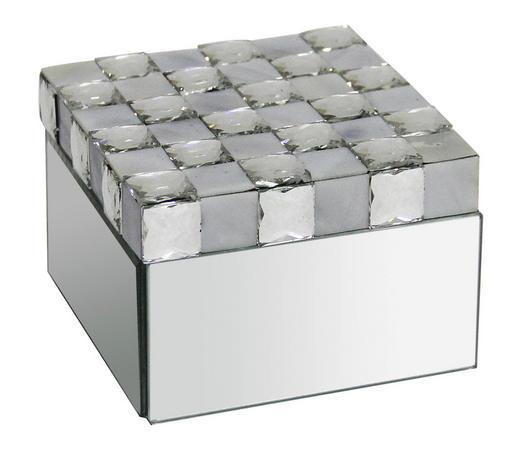 SCHMUCKBOX - Silberfarben, Trend, Glas (12,8/8,5/12,3cm) - Ambia Home