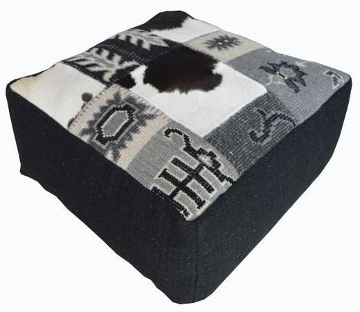 SITZWÜRFEL Schwarz, Weiß - Schwarz/Weiß, Trend, Textil (90/45/90cm) - Carryhome
