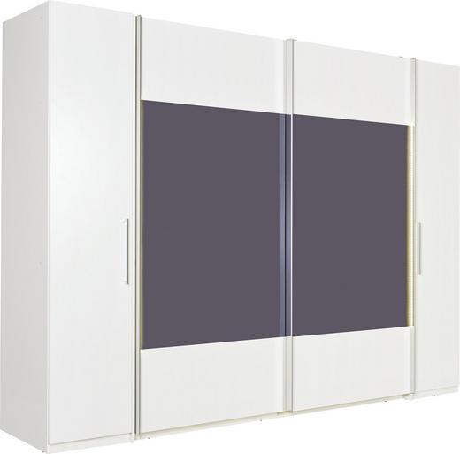 KLEIDERSCHRANK in Schwarz, Weiß - Chromfarben/Schwarz, Design, Glas/Holzwerkstoff (270/225/60cm) - Xora