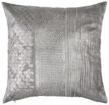 KISSENHÜLLE Grau, Silberfarben  - Silberfarben/Grau, Design, Textil (50cm) - Ambiente