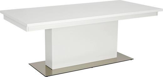 ESSTISCH in Metall, Holzwerkstoff - Weiß, Design, Holzwerkstoff/Metall (200(310)/75/95cm) - Hülsta