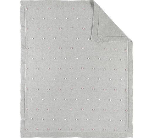 SCHMUSEDECKE 80/100 cm - Rosa/Grau, Basics, Textil (80/100cm) - Patinio
