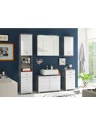 KOPALNICA  siva, bela  - siva/bela, Design, leseni material (156/190/30cm) - Xora