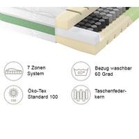 TASCHENFEDERKERNMATRATZE 90/200 cm - Weiß, Basics, Textil (90/200cm) - Schlaraffia