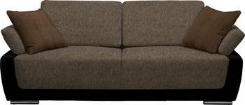 SCHLAFSOFA in Textil Braun, Schwarz  - Chromfarben/Schwarz, Design, Holz/Textil (214/83/95cm) - Venda