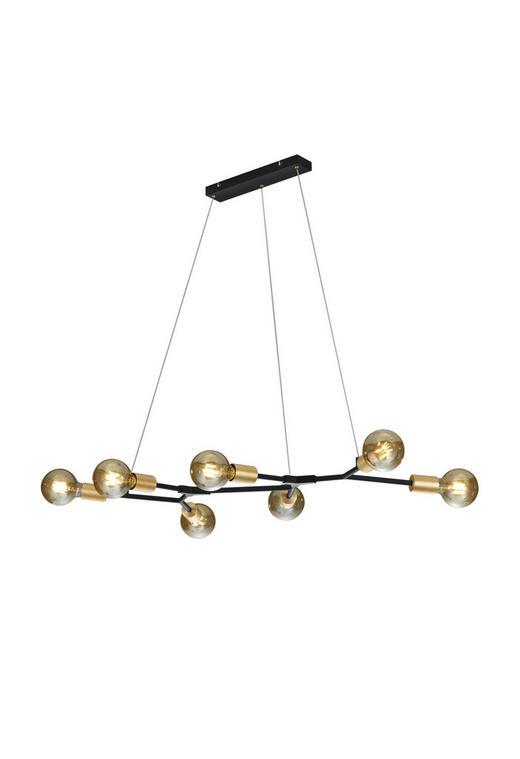 HÄNGELEUCHTE - Schwarz/Bronzefarben, LIFESTYLE, Metall (91/150cm)