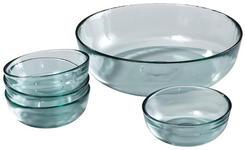 SCHÜSSELSET Glas 5-teilig  - Klar, Basics, Glas - Homeware