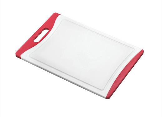 SCHNEIDEBRETT Kunststoff - Rot/Weiß, Kunststoff (24/36cm) - Justinus