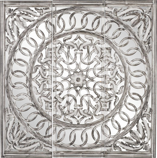 SPIEGEL - Weiß/Grau, Trend, Glas/Holzwerkstoff (120/120/2,5cm) - Ambia Home