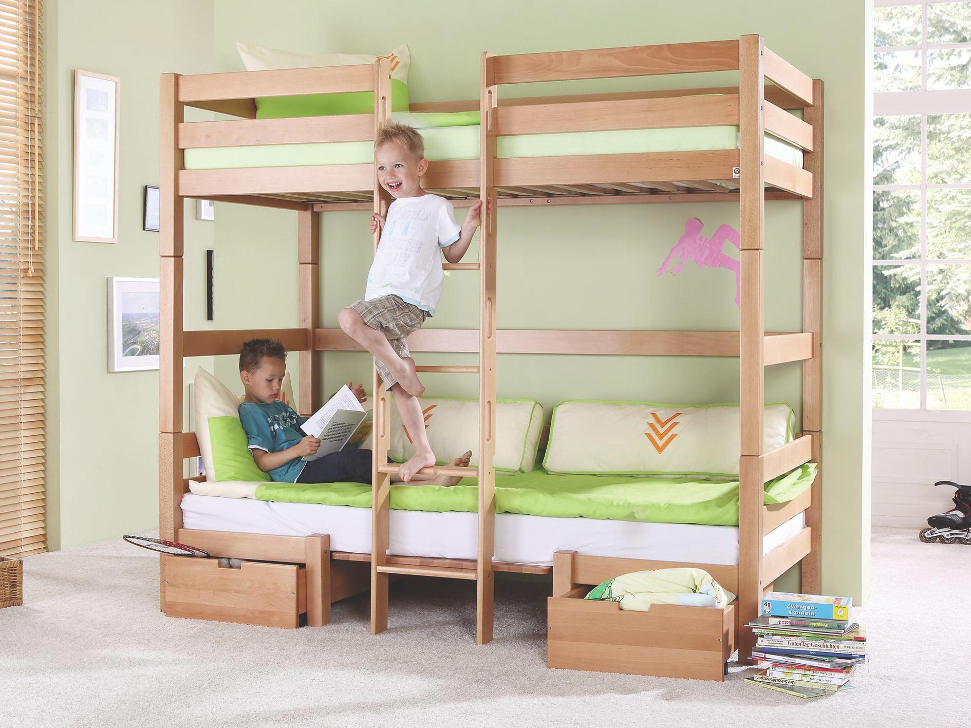 Etagenbett Kinder Halbhoch : Etagenbett für kinder mit rutsche hochbett frisch neu