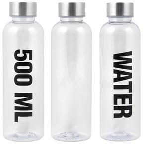 UNIVERSALFLASKA - transparent, Basics, plast (0,5l)