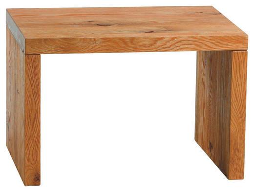 NACHTKÄSTCHEN Wildeiche massiv gebürstet, geölt Eichefarben - Eichefarben, Design, Holz (48/32/38cm) - HASENA