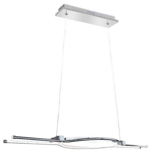 HÄNGELEUCHTE - Chromfarben, Design, Glas/Metall (100/120cm)
