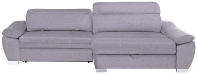 WOHNLANDSCHAFT in Textil Hellgrau  - Silberfarben/Hellgrau, MODERN, Kunststoff/Textil (270/175cm) - Carryhome