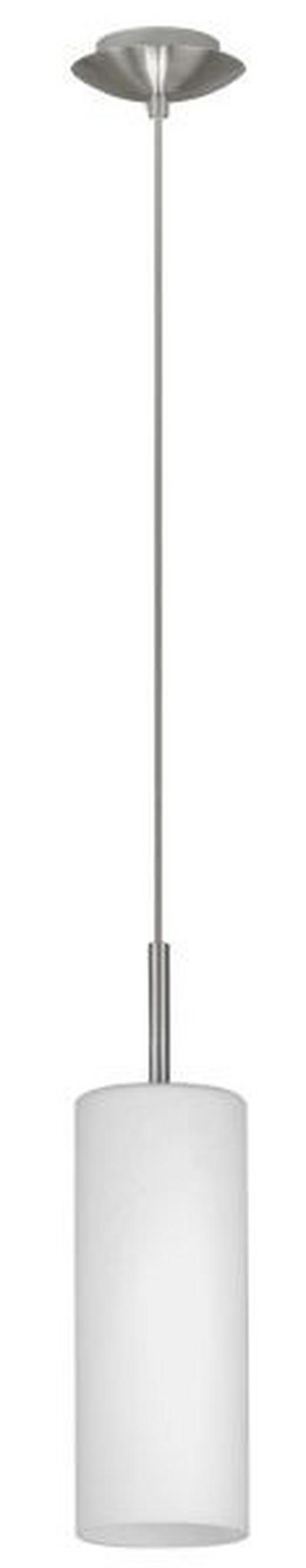 HÄNGELEUCHTE - Nickelfarben, KONVENTIONELL, Glas/Metall (110cm)