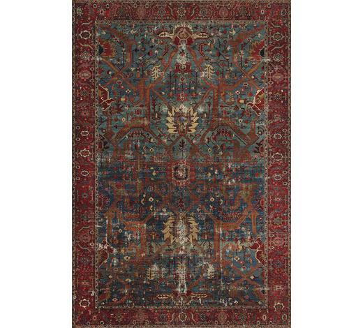 VINTAGE-TEPPICH - Blau/Rot, LIFESTYLE, Textil (190/290cm) - Novel