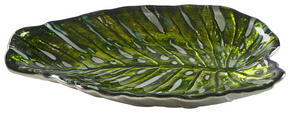 SERVERINGSBRICKA - vit/grön, Trend, glas (18/47cm) - Ambia Home
