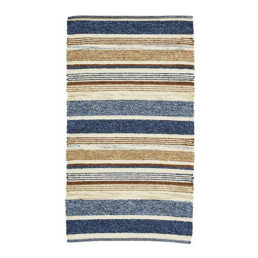 HANDWEBTEPPICH  60/110 cm  Beige, Blau - Blau/Beige, Basics, Textil (60/110cm) - Linea Natura
