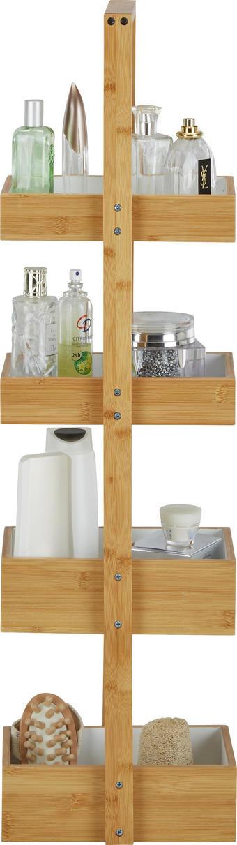 HYLLA - vit/naturfärgad, Design, trä (25/88/18cm) - MÖMAX modern living